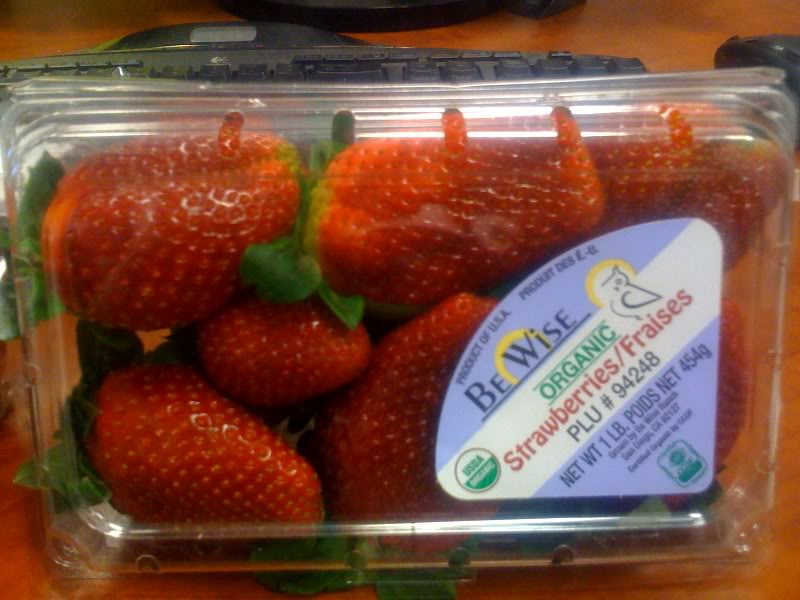 Fresh strawberries from Be Wise Ranch
